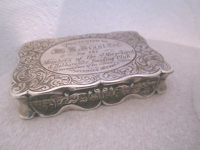 Stunning Solid Silver Victorian Snuff Box George Unite 1900  144g