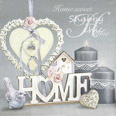 4x Paper Napkins -Home Birdhouse- for Party Decoupage Decopatch Craft