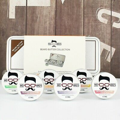 Mo Bro's Beard Butter Collection Gift Set 15ml x 6 - Moisturises Facial Hair