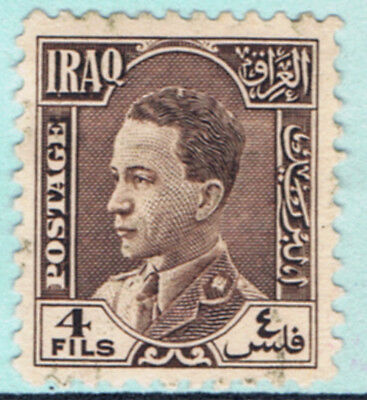 Iraq #64(2) 1934 4 fils purple brown KING FAISAL I Used
