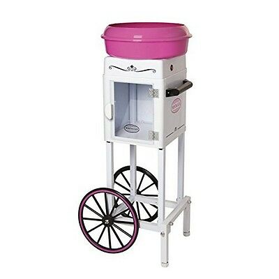 Nostalgia CCM200 3-Foot Tall Hard And Sugar-Free Candy Cotton Candy Cart NEW