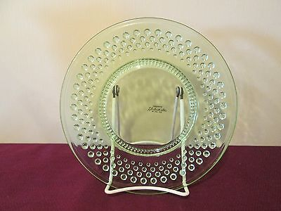 """L.e. Smith Glass Hobnail Lime Green Salad Plate- 8"""" - New 0112B"""