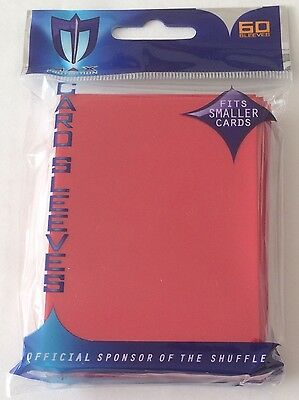 Max Protection RED Trading Card Sleeves - 60 Pack - Fits Smaller Cards - YuGiOh