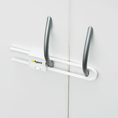 New Hauck Close Me 1 Door Guard Two Child Safety Cupboard Locks White