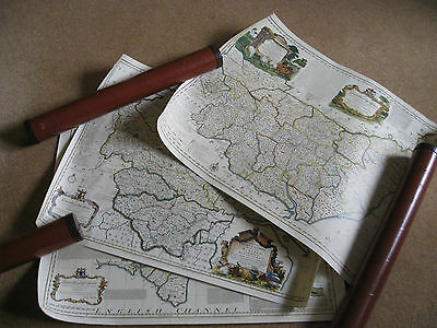 Antique County Maps of England: Devon, Suffolk and Yorkshire