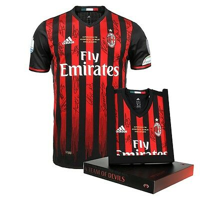 Milan Maglia Supercoppa 2016 Autografata Limited Edition Signed Home Shirt Worn