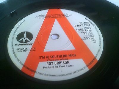 Roy Orbison I'm A Southern Man Rare EX 1976 PROMO 1st UK Monument S MNT 4797