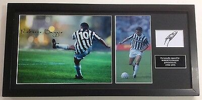 Roberto Baggio Juventus FC Italy Hand Signed Mounted Frame