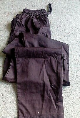 Black chef trousers size XL