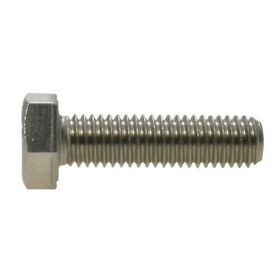 Hex Set Screw M8 (8mm) Metric Coarse Bolt Marine Stainless Steel G316