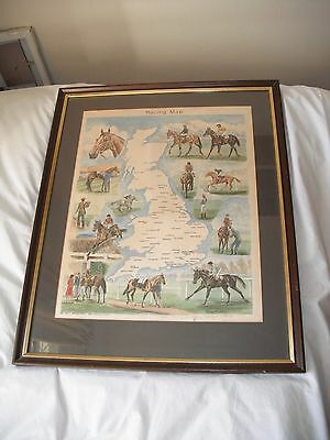 Illustrated Racing Courses Map Of Britain By Rosemary Coates Signed Limited