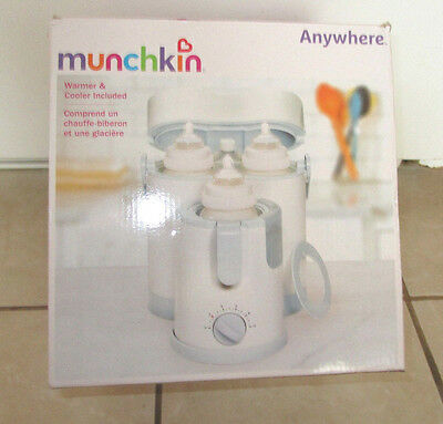 Munchkin Anywhere Day Night Baby Bottle Warmer Cooler New Extra