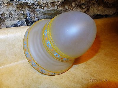 "vintage c 1930 painted ceiling light globe for 3 1/4"" fitting."