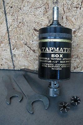 "TAPMATIC 50X REVERSIBLE TAPPING ATTACHMENT   #6 - 1/2"" Capacity"