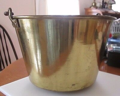 1850s H W Hardens Brass Pail with Iron Handle and a small brass Pail!!