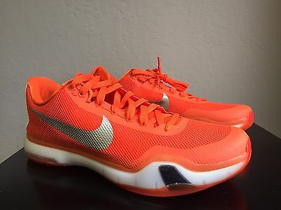 c50358d571d0 NIKE 813030-802 KOBE X 10 Orange Mens Basketball Shoes Size 14.5 ...