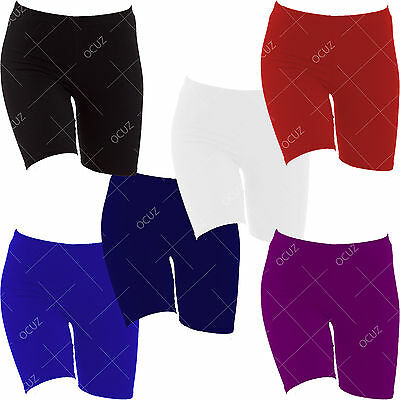 Girls Kids Children Exercise PE School Gym Bike Biking Cycling Lycra Shorts »