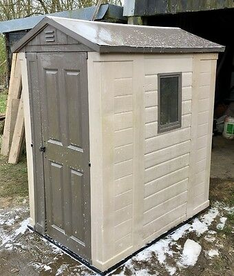 6 x 4 plastic garden shed .. used condition