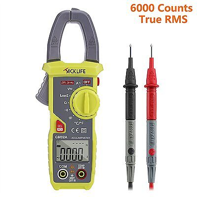 Auto-Range Digital Clamp Meter Multimeter with Non Contact Voltage Detection
