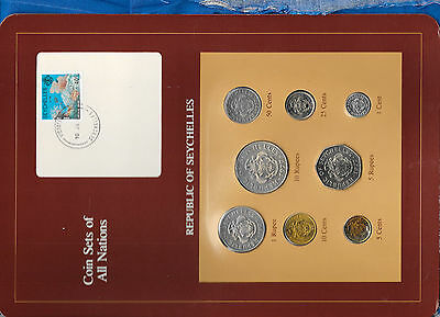 Coin Sets of All Nations Seychelles Maroon 1977 - 1982 UNC 5 cents 1982