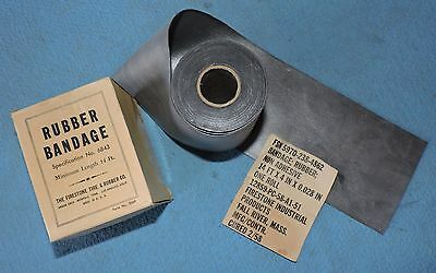 "NOS Firestone Rubber Sheet Bandage Strip Roll  14' x 4"" x .028"" Non-Adhesive"