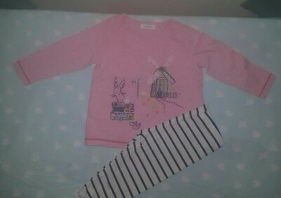 Next Baby Girl Outfit Set 6-9 Months Windmill Pink