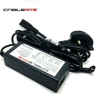 """19v lg tv 32lf510b 32"""" lcd tv 240v ac-dc power supply unit adapter with cable"""