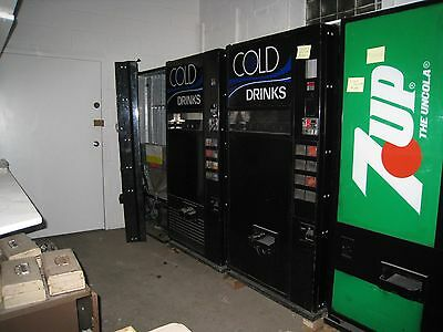 3 Soda Vending Machines Dixie Narco 501 MUST SELL!  OUT OF BUSINESS SALE