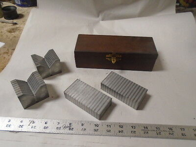 MACHINIST TOOLS LATHE MILL Mitutoyo Set of V Blocks And Parallels 181 -961