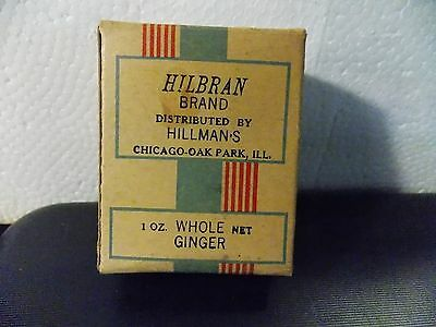 Vintage Collectible Advertising Spice Box Hilbran-Hillman's Chicago-Oak Park, Il