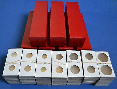 700 2x2 ASSORTED CARDBOARD MYLAR COIN HOLDERS WITH 7 STORAGE BOXES NEW!!!