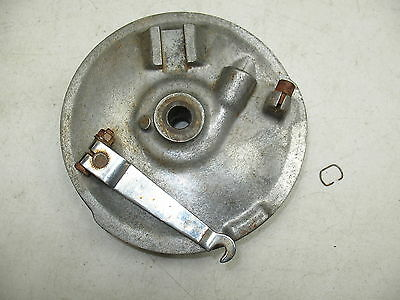 1973 Yamaha Dt3 250 Front Wheel Rim Brake Panel+ Speedometer Gear Drive Assembly