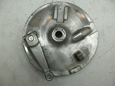 1980 Yamaha Sr 250 Exciter 250 Front Wheel Rim Brake Panel + Speedometer Drive