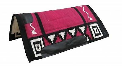 """PINK 36"""" x 34"""" Wool Top Cutter Style Saddle Pad W/ Fleece Bottom! NEW HORSE TACK"""