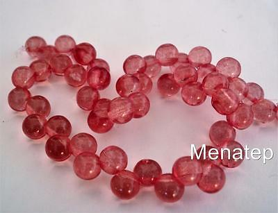 25 6mm Czech Glass Top Hole Round Beads Transparent Lush Meadow