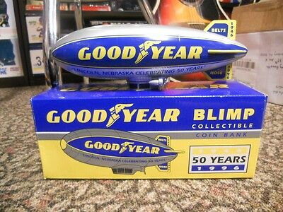 Goodyear Blimp Collectible Coin Bank 1996 Blowout Price !!!