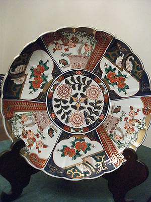 """Imari Charger, 12"""", Hand Painted Plate, Oriental Design"""