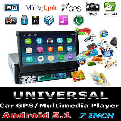 """7"""" 1Din HD Touch Android Wifi GPS Car Stereo Player Mirror Link Radio Bluetooth"""