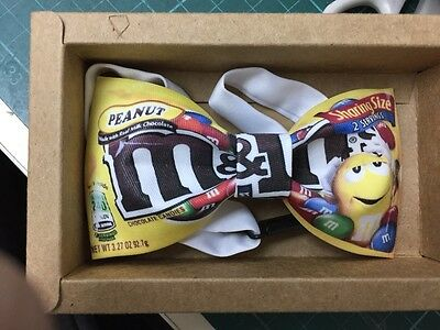 M & M Chocolate Yellow Color Cool Design BOW TIE Nice Gift for Causal Party Use
