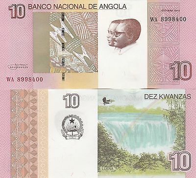 Angola P151B, 10 Kwanzas Embroidery / waterfall  UNC 2017 UV, w/m, latent image