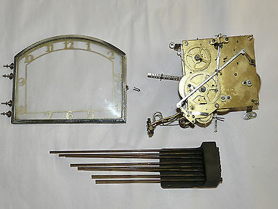 Antique Clock Parts German HAC Westminster Whittington Movement Chimes & Dial NW