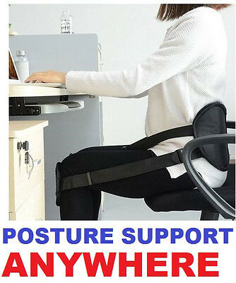 POSTURE BACK SUPPORT STRAP seat lumbar waist belt roll cushion pain nada chair
