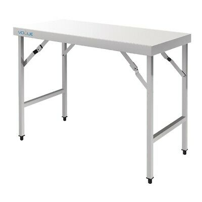 Vogue Stainless Steel Folding Table 1200mm BARGAIN