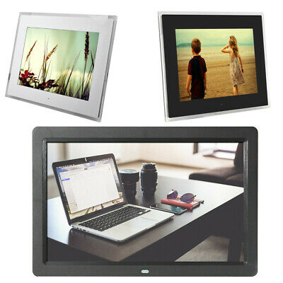 "12""/15"" Frameless HD Digital Picture Photo Frame Movie MP4 Player Remote Control"