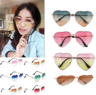 Stylish Metal Frame Sunglasses Women Love Heart Shape Lens Eyewear Eyeglasses