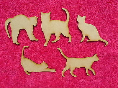 Wooden Cat craft blank embellishments novelty craft animal shape set in 3mm mdf
