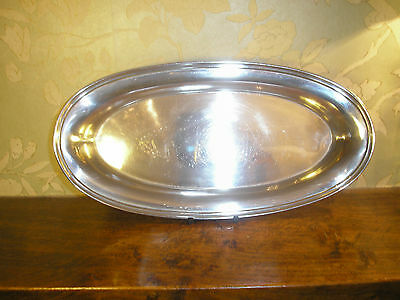 ELKINGTON Silver Plated OVAL DISH/TRAY - 1958 - monogramme - 29cms