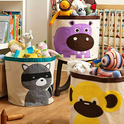 Sweet Large Kid Animal Sundries Clothes Bags Basket Toys Storage Bag Barrel Bag