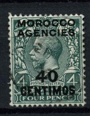 Morocco Agencies 1914-1926 SG#134, 40c On 4d Grey Green KGV Used #D47455