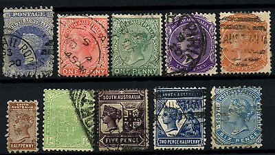 South Australia 10 Different Queen Victoria QV Stamps Used #D47282